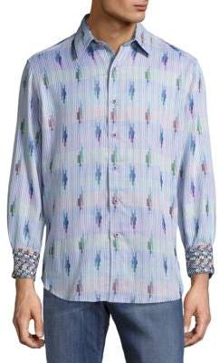 Cloud City Printed Casual Button-Down Shirt $278 thestylecure.com