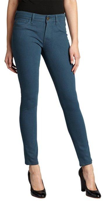 DL1961 Premium Denim jade dyed stretch denim 'Amanda' skinny jeans