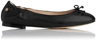 LK Bennett Thea Black Leather Flats