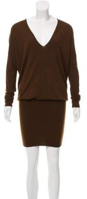 Donna Karan V-Neck Sweater Dress