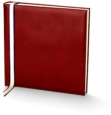 English Bridle 12 Photo Album In Red With Cream Pages