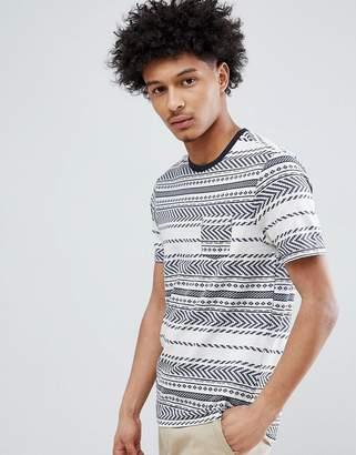 Celio T-Shirt With Textured Stripe