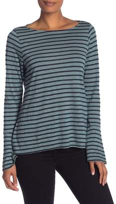 Michael Stars Boat Neck Striped Tee