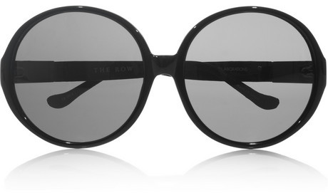 The Row Oversized round-frame acetate sunglasses