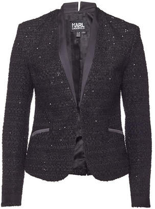Karl Lagerfeld Boucle Blazer with Sequins