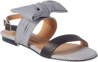 French Sole Cider Denim & Leather Sandal
