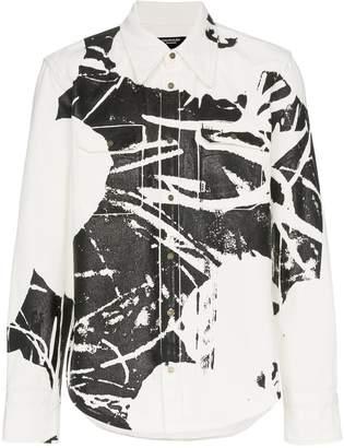 Calvin Klein white printed denim shirt