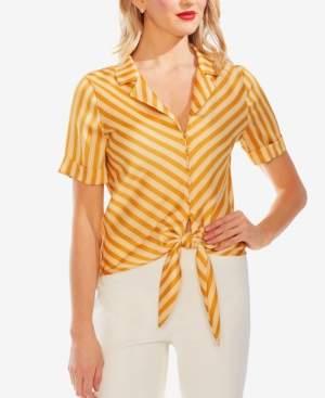 Vince Camuto Striped Tie-Hem Blouse
