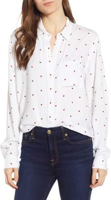 Rails Rocsi Heart Print Shirt