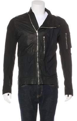 Rick Owens Leather Asymmetrical Zip Jacket