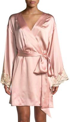 La Perla Maison Lace-Trim Short Robe