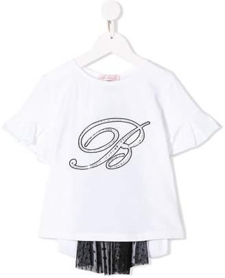Miss Blumarine sheer panel T-shirt
