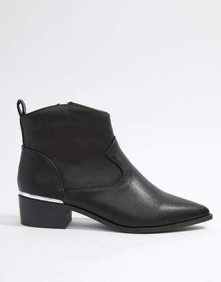 London Rebel Lonodon Rebel Clean Western Ankle Boots