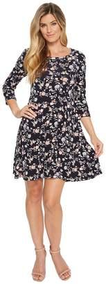 Karen Kane 3/4 Sleeve Swing Dress Women's Dress