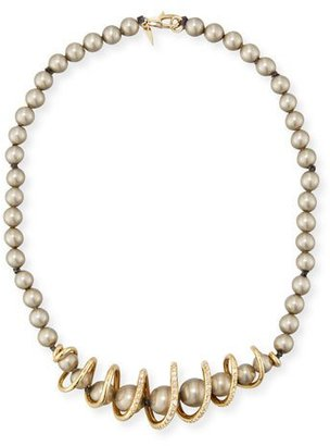 Alexis Bittar Beaded Coil-Strand Necklace $295 thestylecure.com