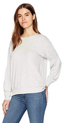 Michael Stars Women's Elevated French Terry Gathered Sleeve Sweatshirt