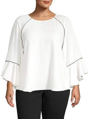 Calvin Klein Plus Bell Sleeve Top