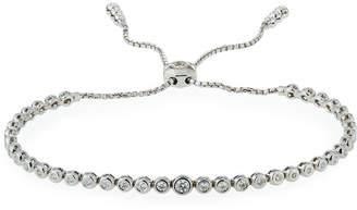 Neiman Marcus Diamonds 14k White Gold Adjustable Diamond Bracelet, 0.75tcw
