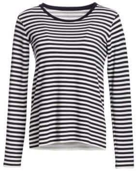 Majestic Filatures French Terry Striped Long-Sleeve Tee