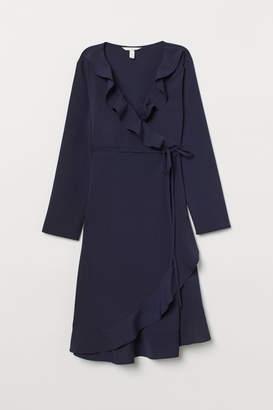 H&M MAMA Wrap Dress - Blue