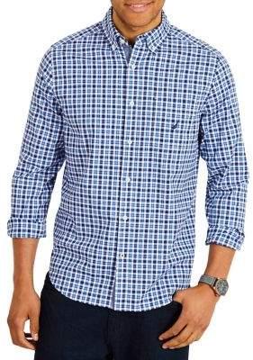 Nautica Classic-Fit Stretch-Cotton Button-Down Shirt