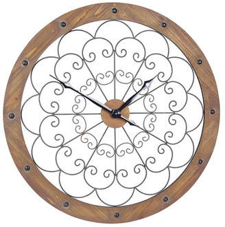 Household Essentials Large Scroll Wall Clock