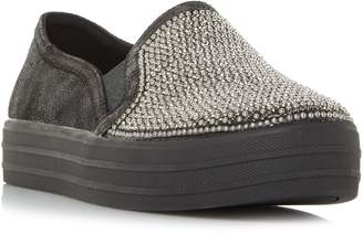 Skechers Double Up Embelished Slip On Trainers