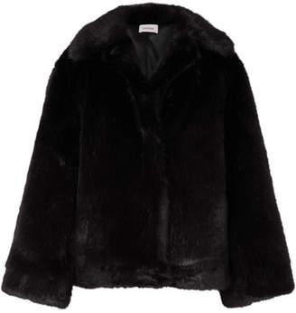 Totême Châtel Oversized Faux Fur Jacket - Black
