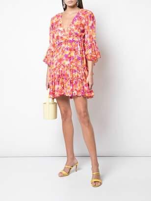 MISA Los Angeles floral ruffle dress