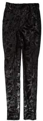 Proenza Schouler x J Brand Coated High-Rise Jeans