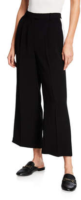 MICHAEL Michael Kors Tux Stripe Wide-Leg Cropped Pants