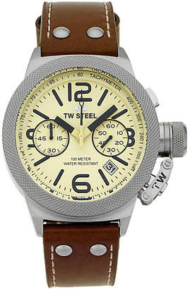 TW Steel Men's Canteen TWCS13 Chronograph Strap Watch