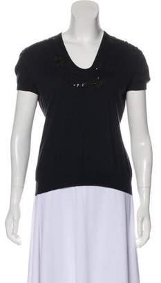 Celine Cashmere Short Sleeve Top