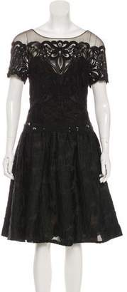 Marchesa Knee-Length Cocktail Dress