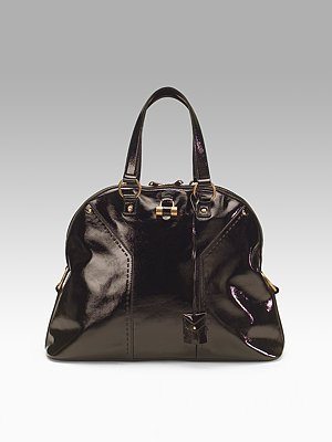 Yves Saint Laurent Patent Muse Tote
