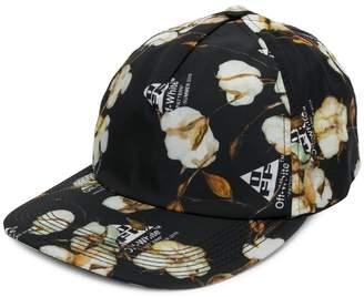 Off-White cotton flower print cap
