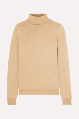 Etro Metallic Wool-blend Turtleneck Sweater - Gold