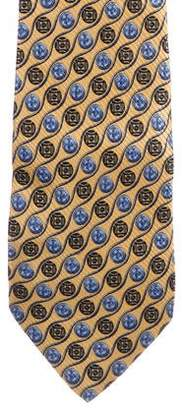Burberry Geometric Jacquard Silk Tie