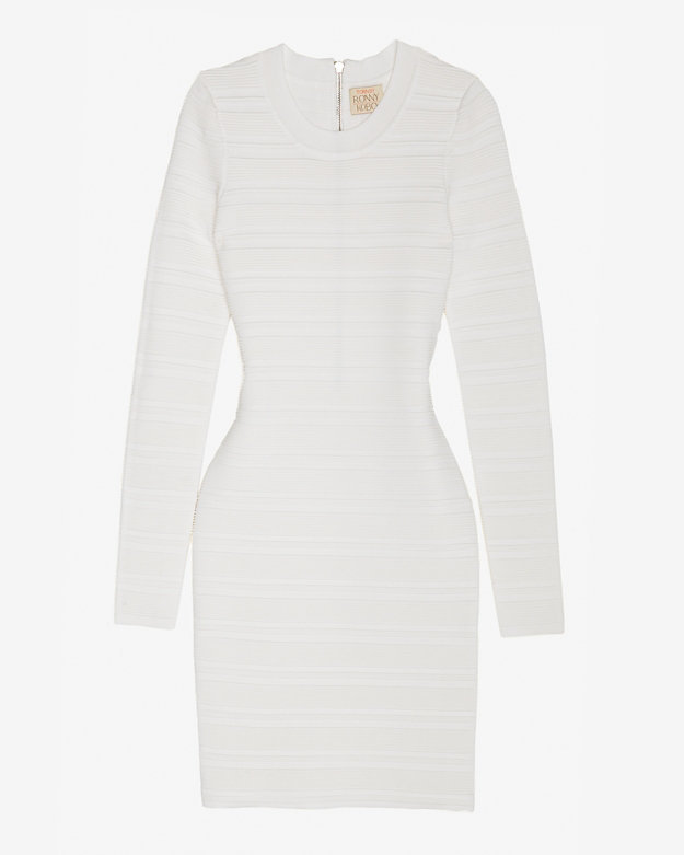 Torn By Ronny Kobo Ribbed Sweater Knit Dress