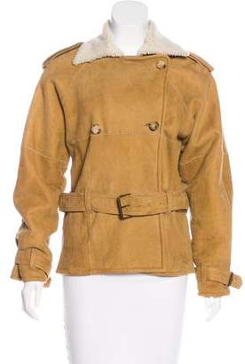 Maxfield Sheepskin Belted Jacket