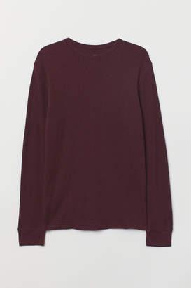 H&M Waffled Shirt - Pink