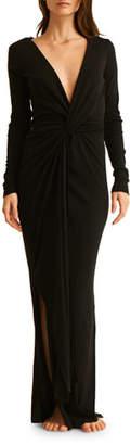 Skin Adalia Long-Sleeve Wrap Coverup Dress