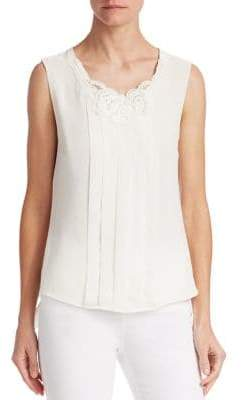 Edward Achour Pleated Sleeveless Blouse