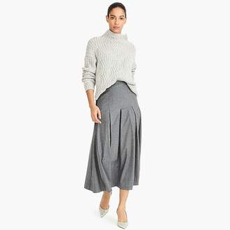 Collection pleated wool flannel maxi skirt