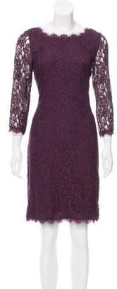 Diane von Furstenberg Knee-Length Lace Dress