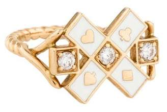 Alison Lou 14K Diamond & Enamel Mixed Suite Ring