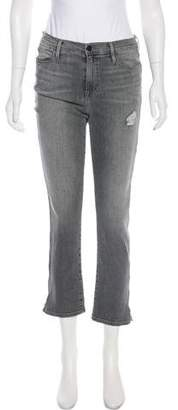 Frame Mid-Rise Straight-Leg Jeans w/ Tags