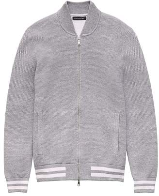Banana Republic Sweater Bomber Jacket With COOLMAX® Technology