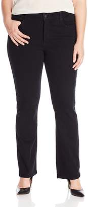 NYDJ Women's Plus-Size Billie Mini Bootcut Jeans