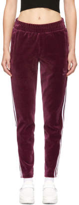adidas Burgundy Velour BB Track Pants